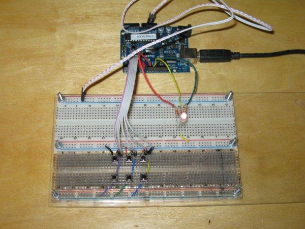 Arduino 6 button RGB controller