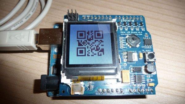 Arduino QR-clock