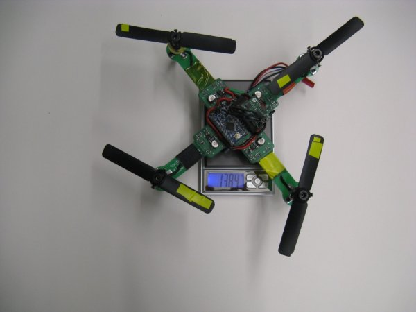 Arduino based Quadrotor on a PCB