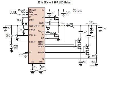 High LEDs brightness get power drive