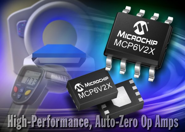 Microchip zero-drift op amp is low power for medical
