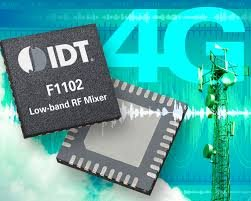 RF mixers reduce distortion in 4G basestations, says IDT