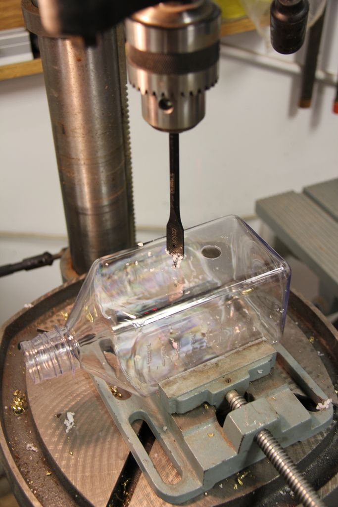 Drill holes in mixing chamber
