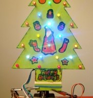 Making a mini LED Christmas tree