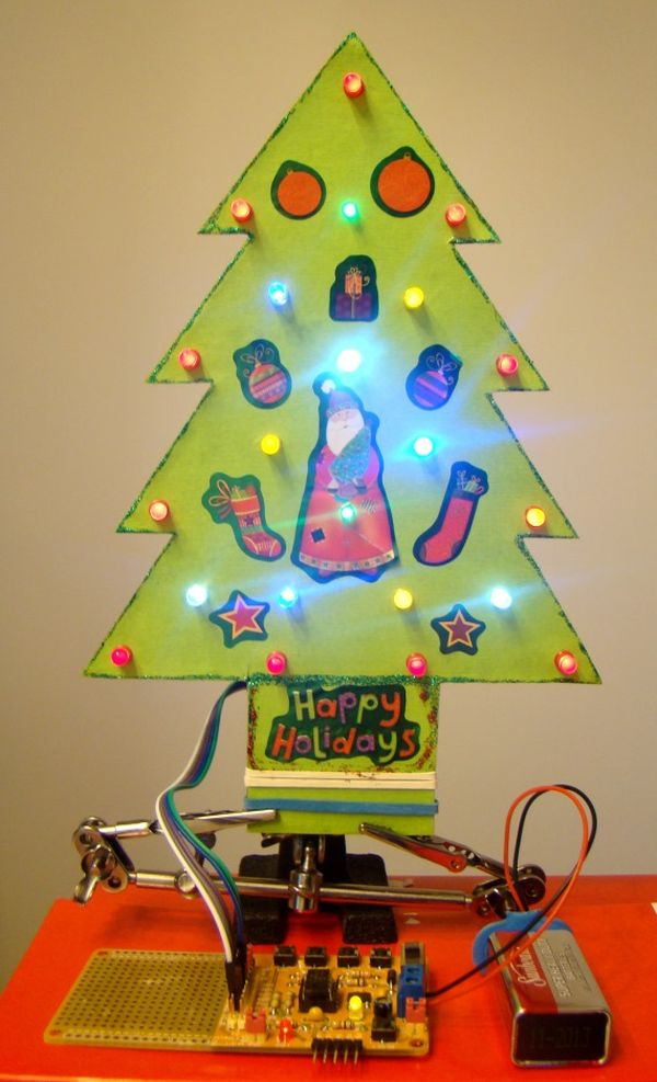 Making a mini LED Christmas tree