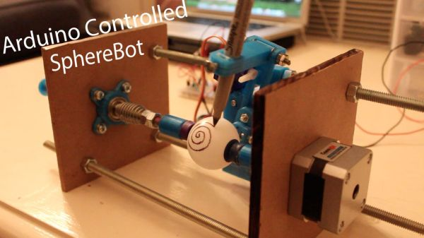 3D Printed Arduino Controlled Eggbot/Spherepot