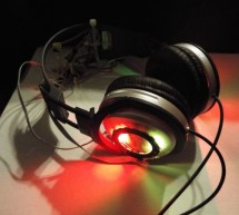 Adafruit Flora NeoPixel LED Ring Headphone mod