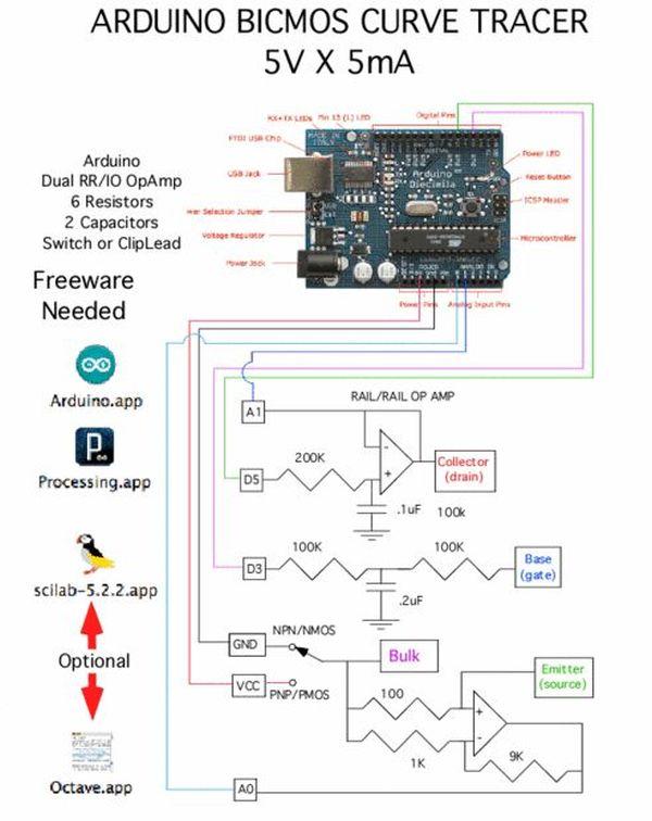 Arduino BiCMOS Curve Tracer