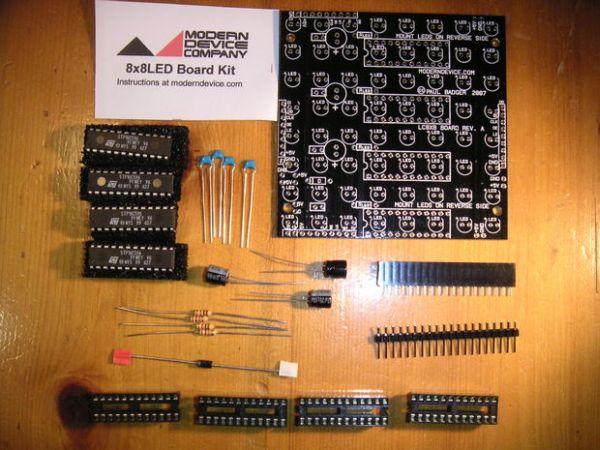 Assembling the 8x8 LED Board Kit