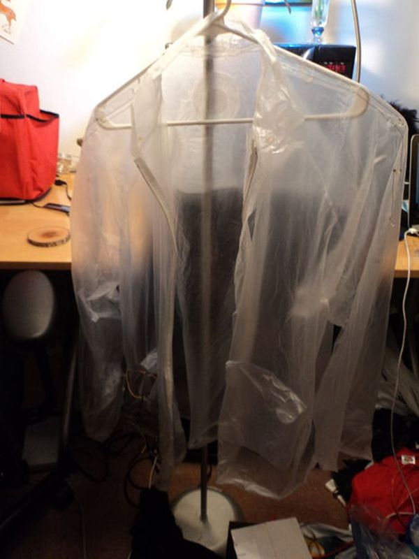 Light and Water Reactive Raincoat