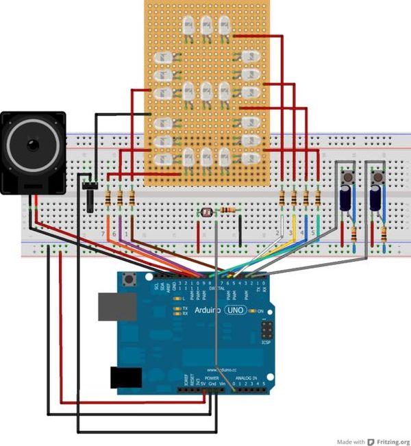 Making the circuit on breadboard