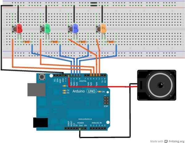 Making the circuit on breadboard