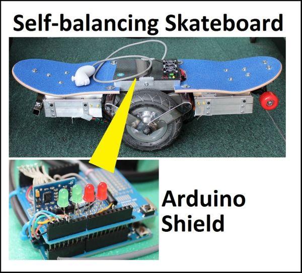 Self-balancing skateboard