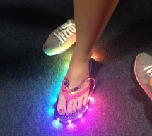 Slipper Shining with LED strip & Xadow
