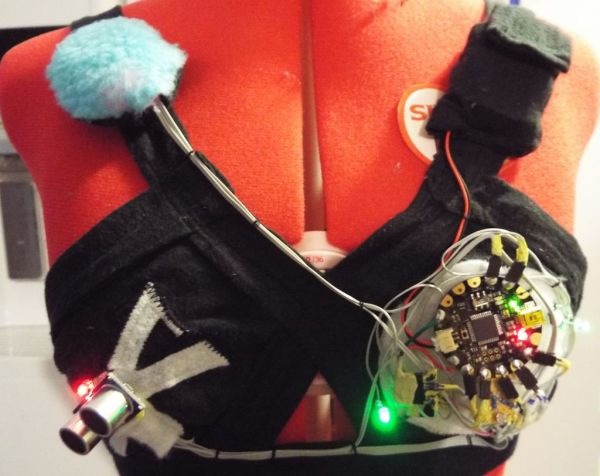 Star Wars Adafruit Flora Theremin LED Bra
