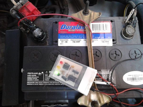 Troubleshoot your car battery with ATtiny
