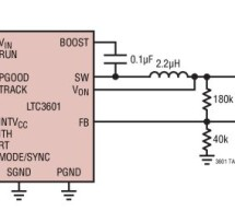 LTC3601 – 1.5A, 15V Monolithic Synchronous Step-Down Regulator