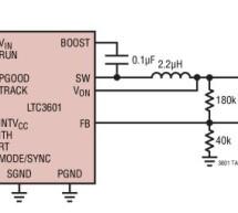 LTC3601 – 1.5A, 15V Monolithic Synchronous Step-Down Regulator