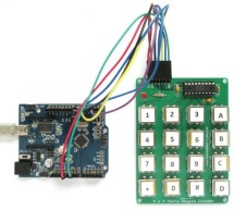 MM74C922N-based encoded matrix keypad