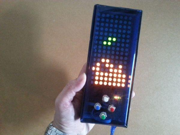 Arduino Tetris on bi-color LED matrix