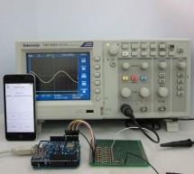 IOS-Controlled Arduino waveform generatora