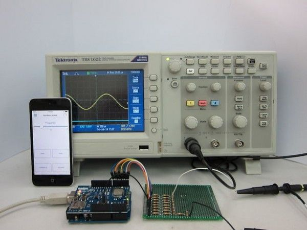 IOS Controlled Arduino waveform generatora