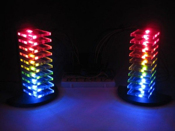 Mini LED volume towers VU meters