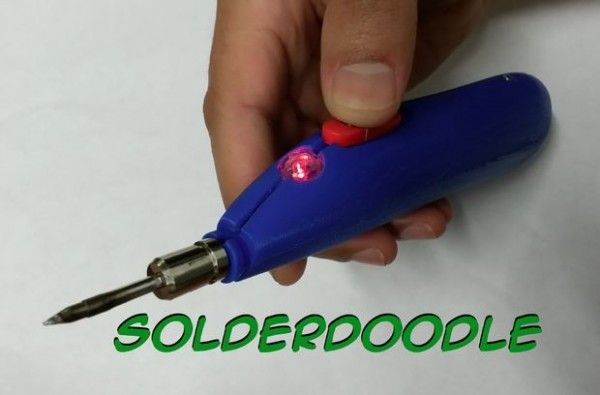 Solderdoodle Open Source USB Rechargeable Soldering Iron