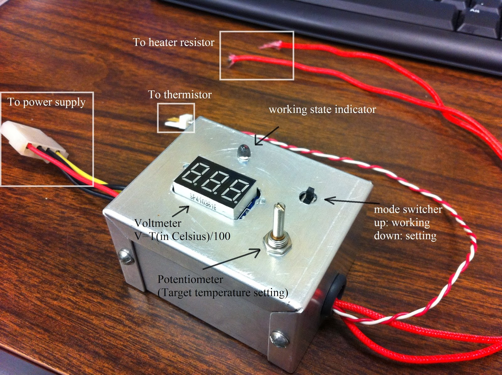 A simple temperature control system