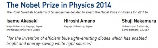 American and 2 Japanese Physicists Share Nobel for Work on LED Lights