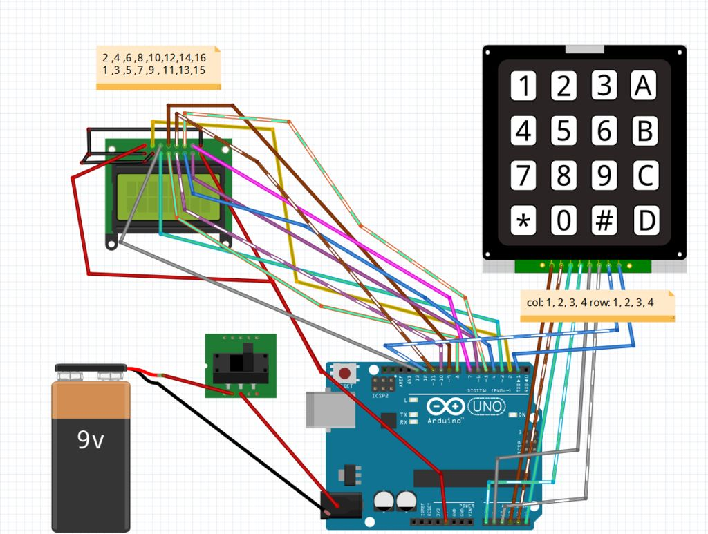 Arduino Calculator schematic
