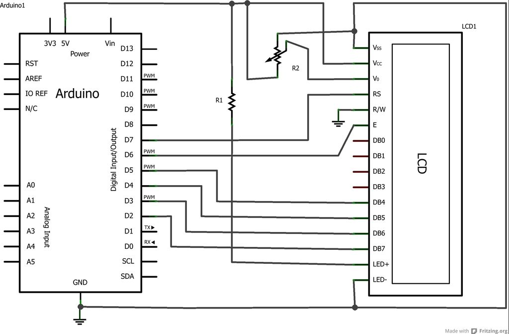 Arduino Phone Book schematic