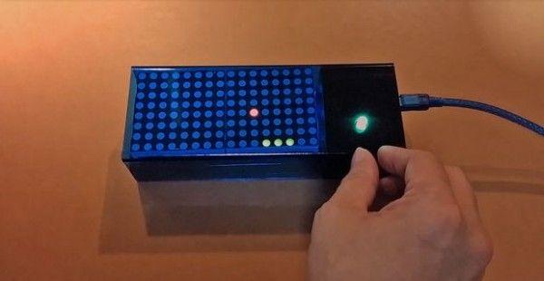 Arduino based Bi-color LED Matrix Pong Game