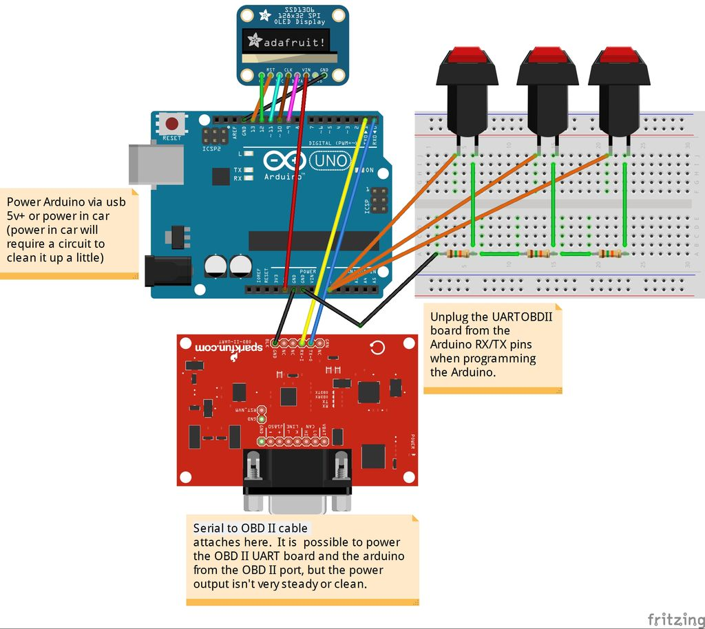Custom OBD II Gauge in With OEM Look using arduino circuit - Use