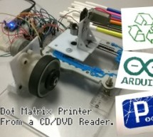 Dot Matrix Printer from a CD/DVD Reader with Arduino
