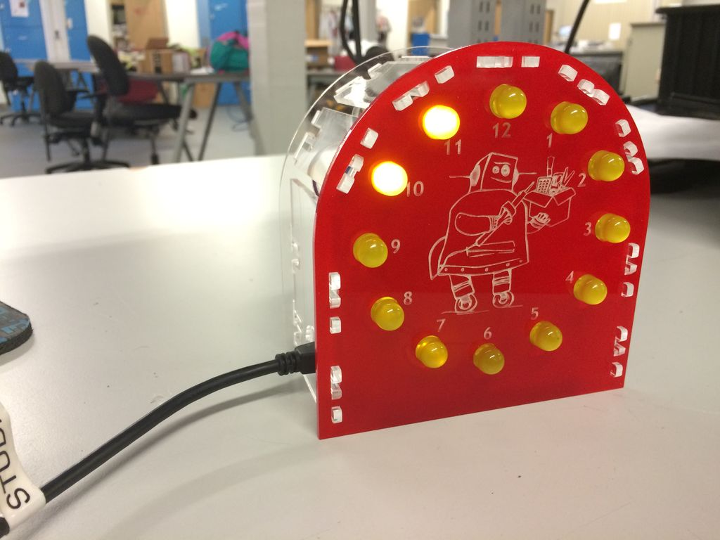 Arduino-powered LED Clock