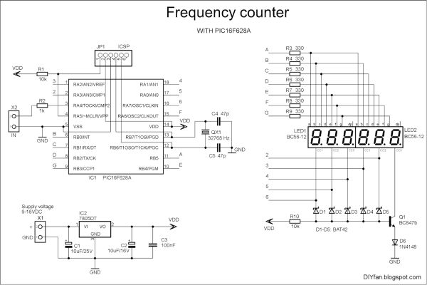 Frequency Counter With Pic16f628a Use Arduino For Projects