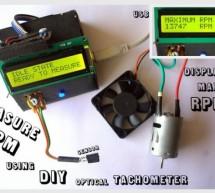 Measure RPM – DIY portable digital tachometer