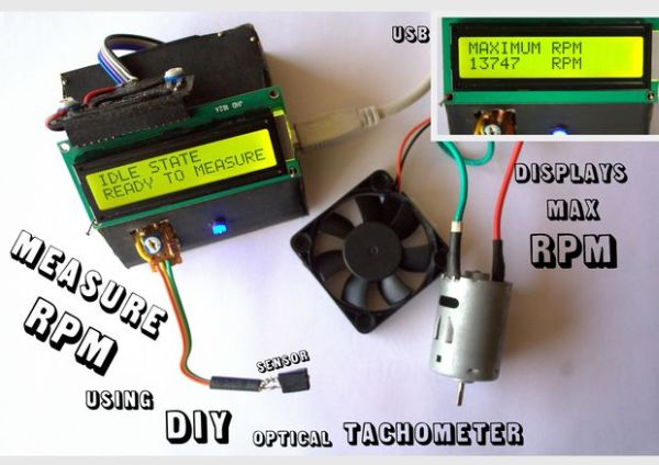 Measure RPM – DIY portable digital tachometer