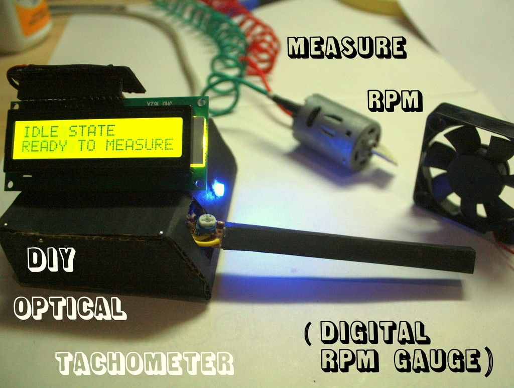 Measure RPM - Optical Tachometer using Arduino