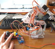My Ninth Project: Robot Arm with Joystick Shield using Arduino