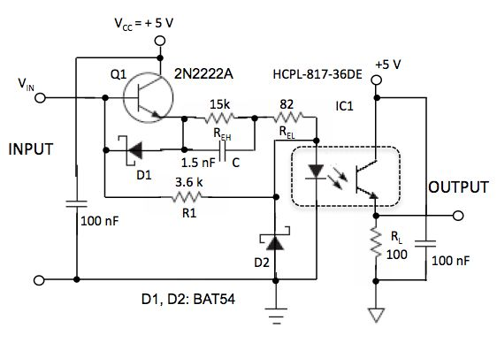 Optocoupler speed-up also reduces power consumption