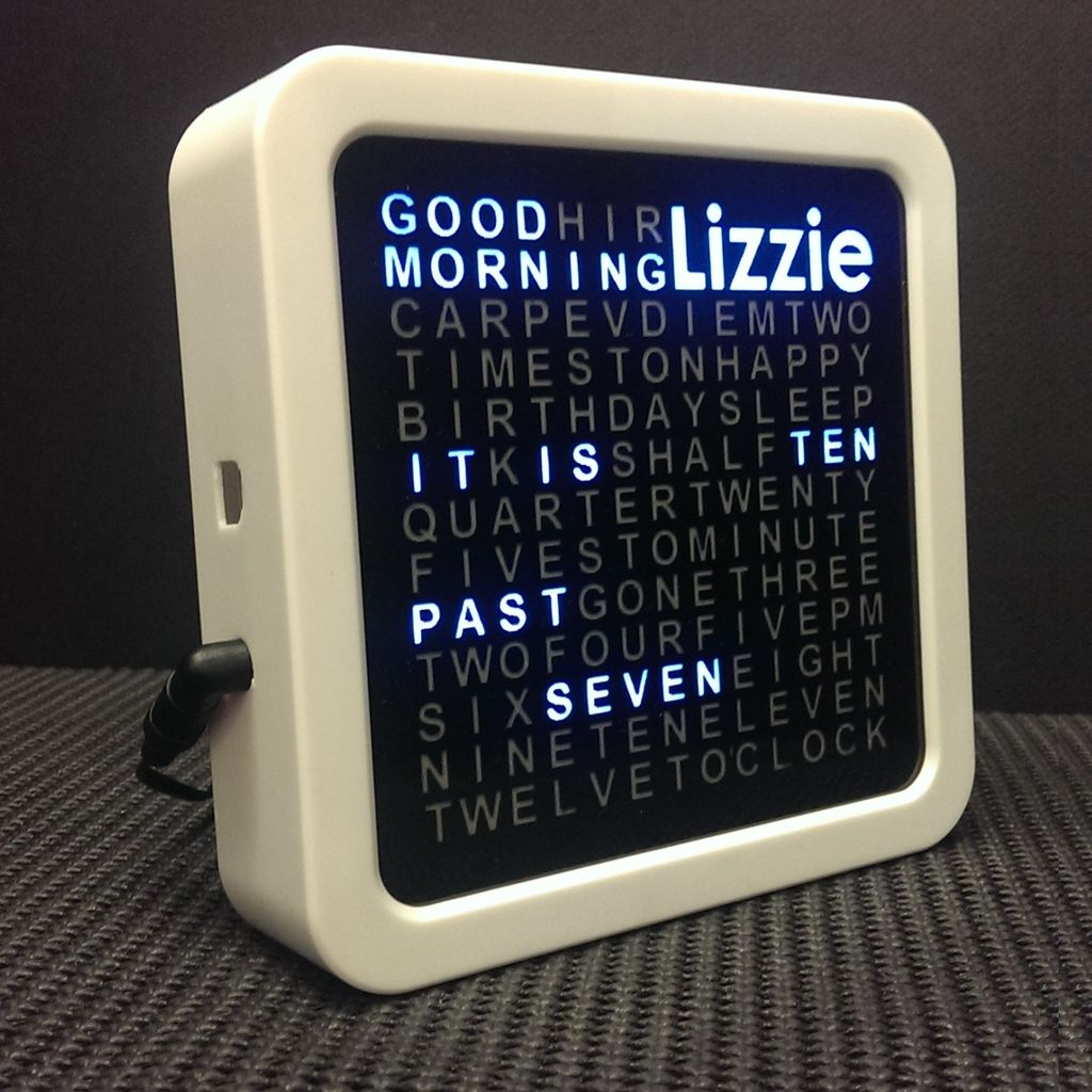 Personalised Word Clock using Arduino