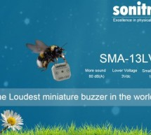 Piezo buzzer Sonitron SMA-13LV deploys maximum from a minimum