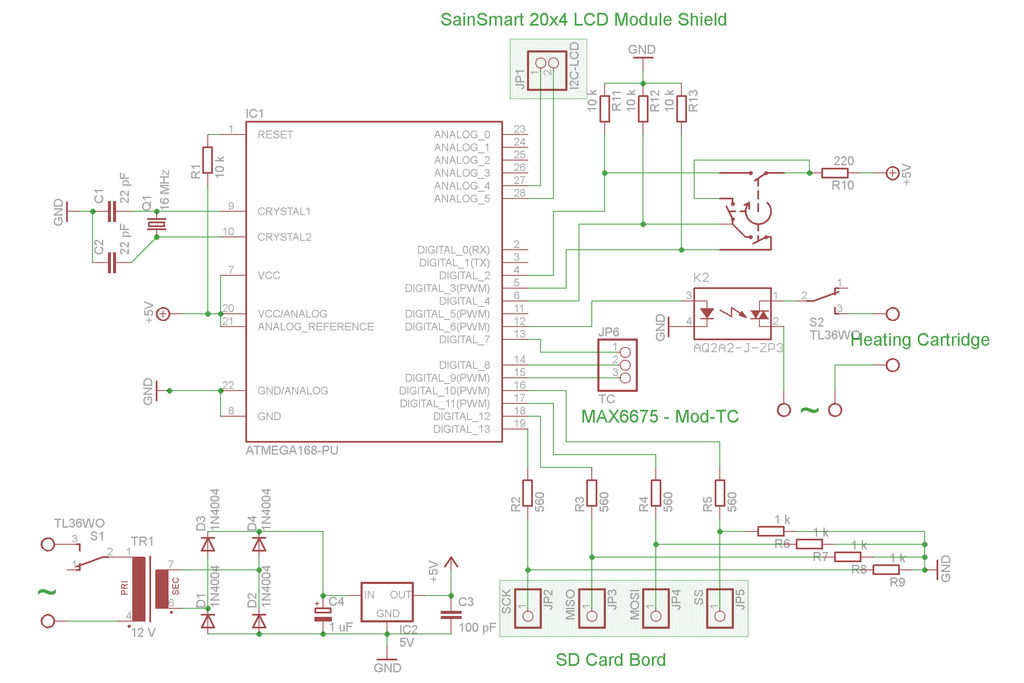 Programmable Temperature Controller + Hot Plate schematic
