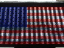 USA Flag made with diffused LED using Arduino