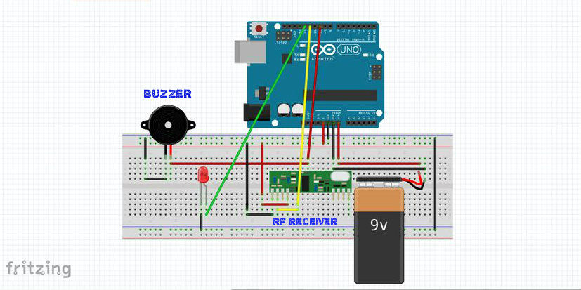 ARDUINO WIRELESS HOME SECURITY SYSTEM circuit