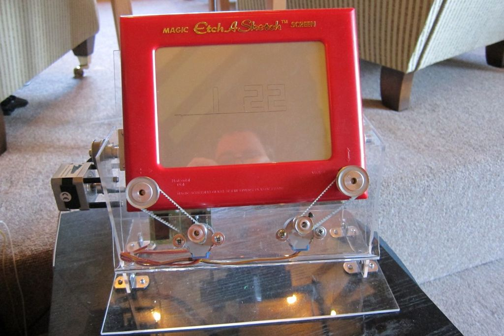 Arduino Etch-A-Sketch Clock