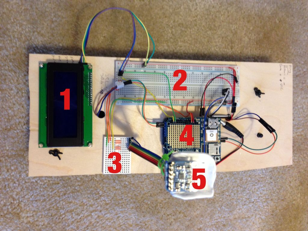 Arduino Powered Autonomous Vehicle circuit