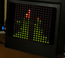Arduino based Bi-color LED Matrix Audio Spectrum Visualizer